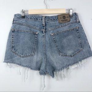 Vintage High Waisted Wrangler Shorts. Distressed